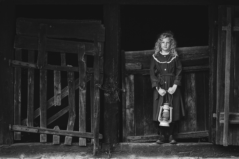 View this piece of fine art photography titled girl with lantern by Joxe Inazio Kuesta Garmendia