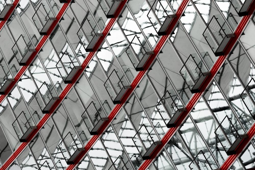 A piece of fine art art photography titled Balconies by Harry Lieber