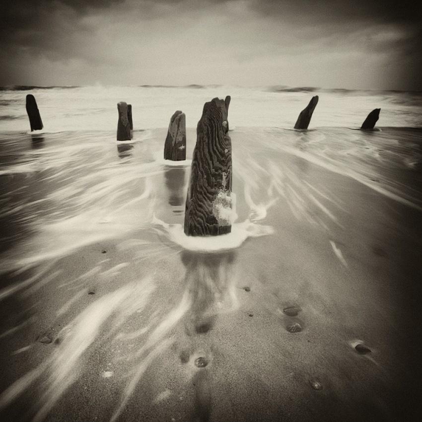 A piece of fine art art photography titled Spurn Point by David Baker