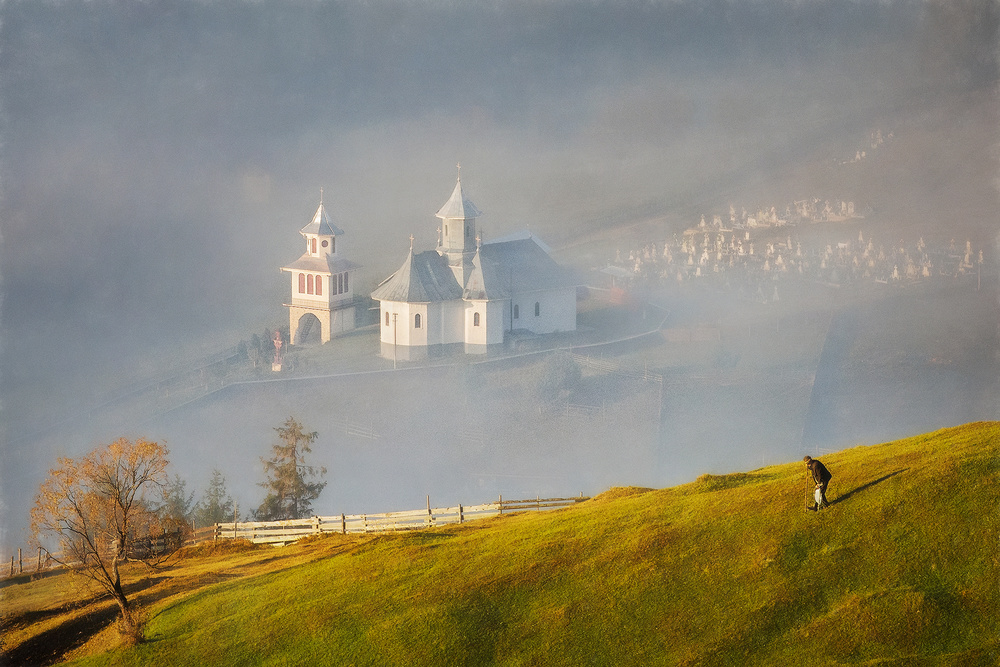A piece of fine art art photography titled The Church by Sebastian Prioteasa