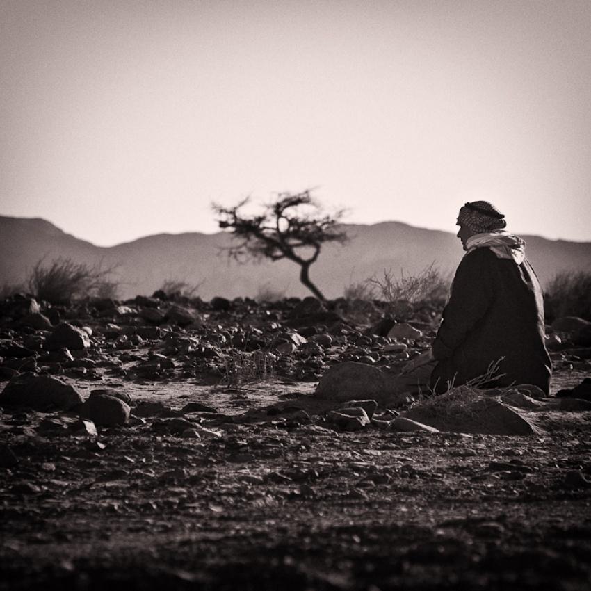 A piece of fine art art photography titled Desert Prayers by Johan Nieuwerth