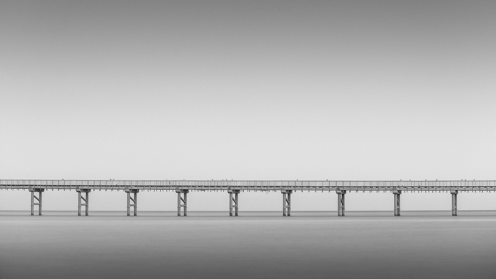 A piece of fine art art photography titled Bridge of Spies by alexandru crisan