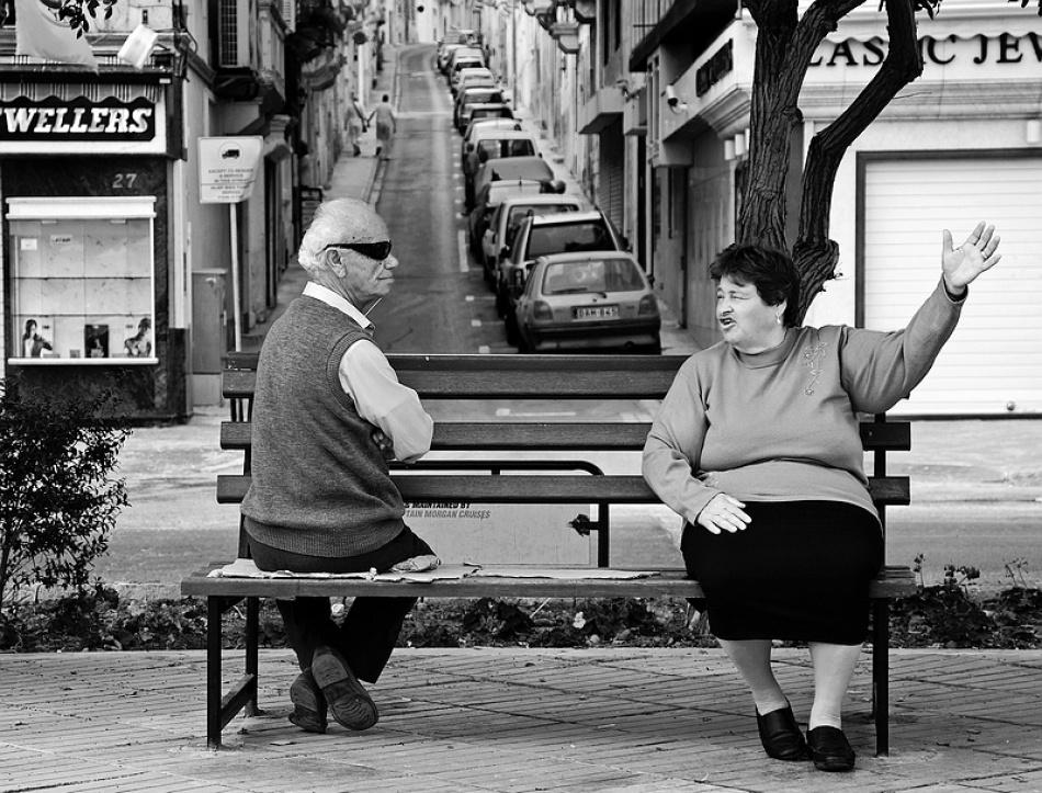 A piece of fine art art photography titled One-way Conversation by Aart de Boer