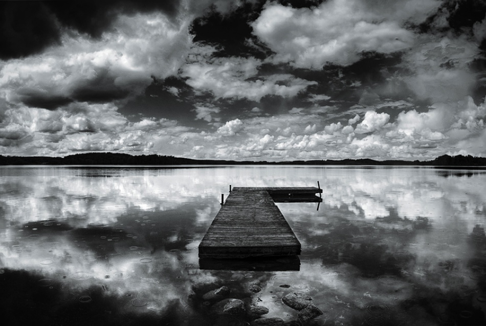 A piece of fine art art photography titled Angry Clouds and Troubled Water by Oscar Franzen
