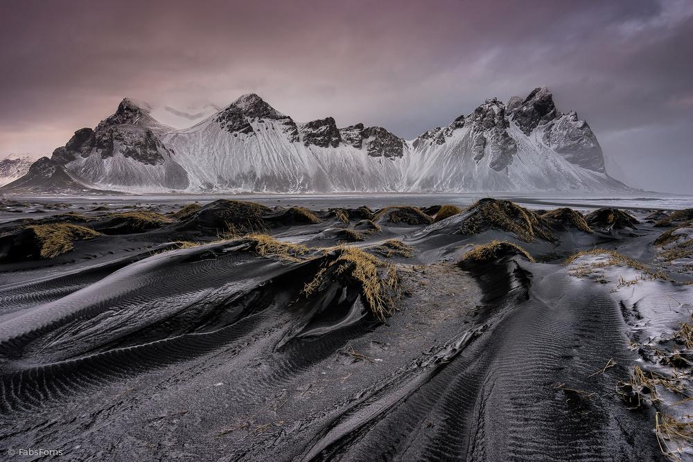 Black dunes beach