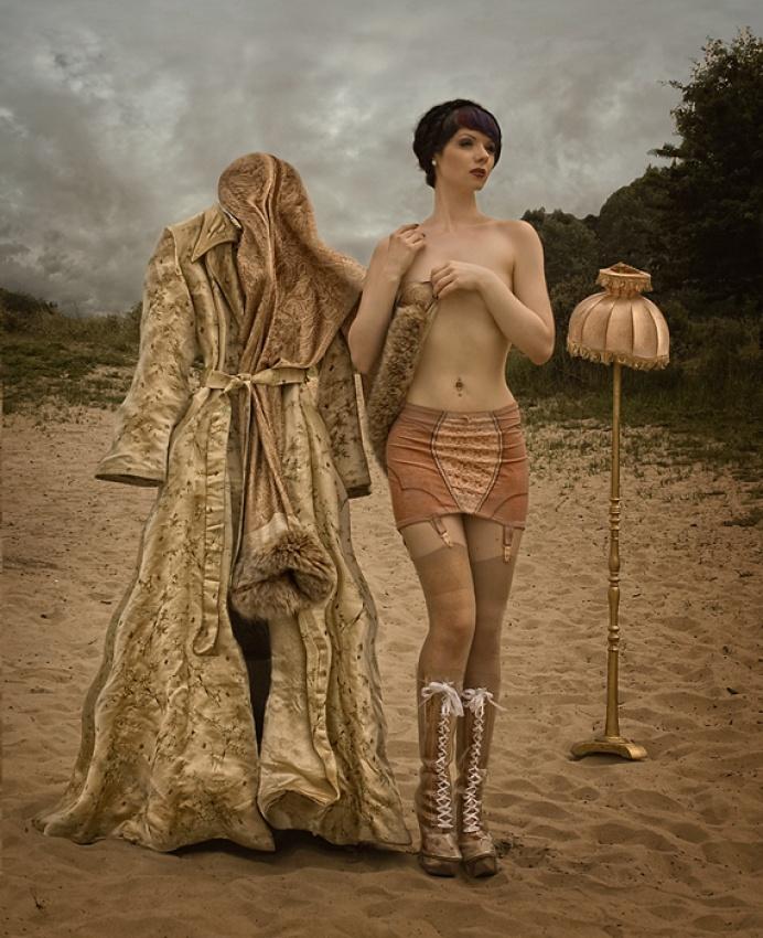 A piece of fine art art photography titled Mathilde's Skirt by Peter Kemp
