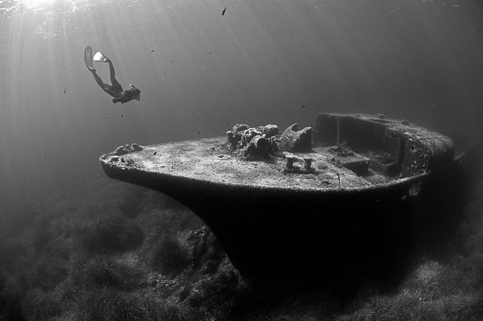 A piece of fine art art photography titled Epave De La Picorella - Picorella's Wreck by Eric VOLTO