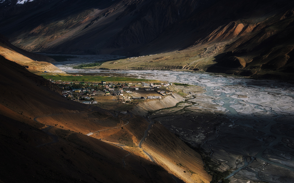 A piece of fine art art photography titled Kaza Town by swapnil.