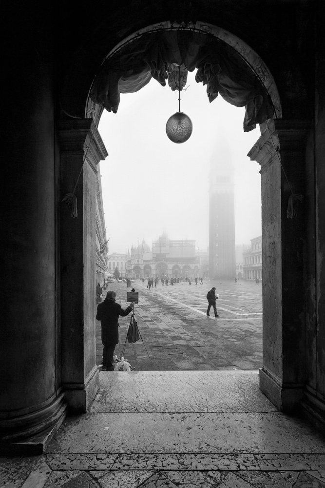 A piece of fine art art photography titled Foggy Day by Sergio Levorato