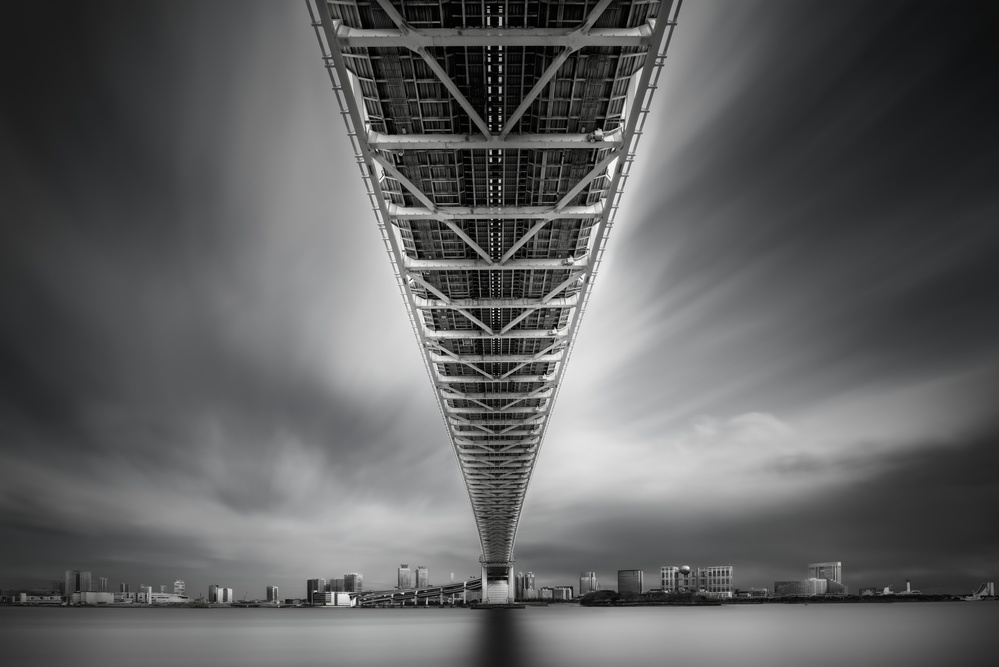 A piece of fine art art photography titled Rainbow Bridge Profile by Dr. Akira TAKAUE
