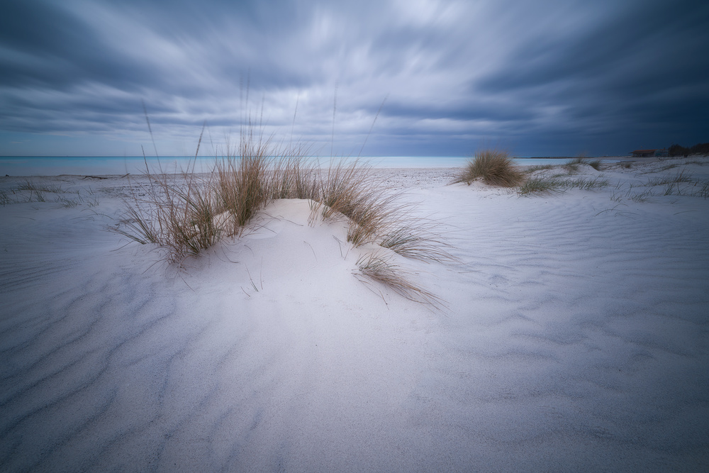 A piece of fine art art photography titled Beach White by Antonio Colucci
