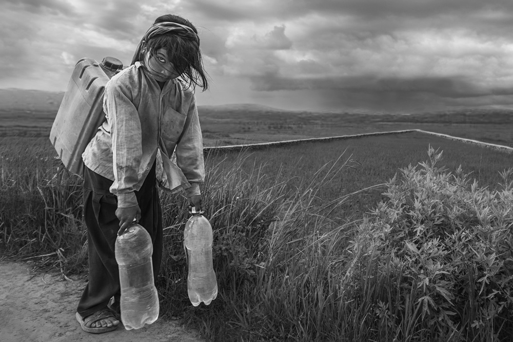 A piece of fine art art photography titled Water Girl by Haitham AL Farsi