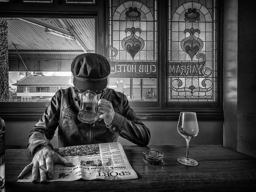 A piece of fine art art photography titled Yarram Club by Adrian Donoghue