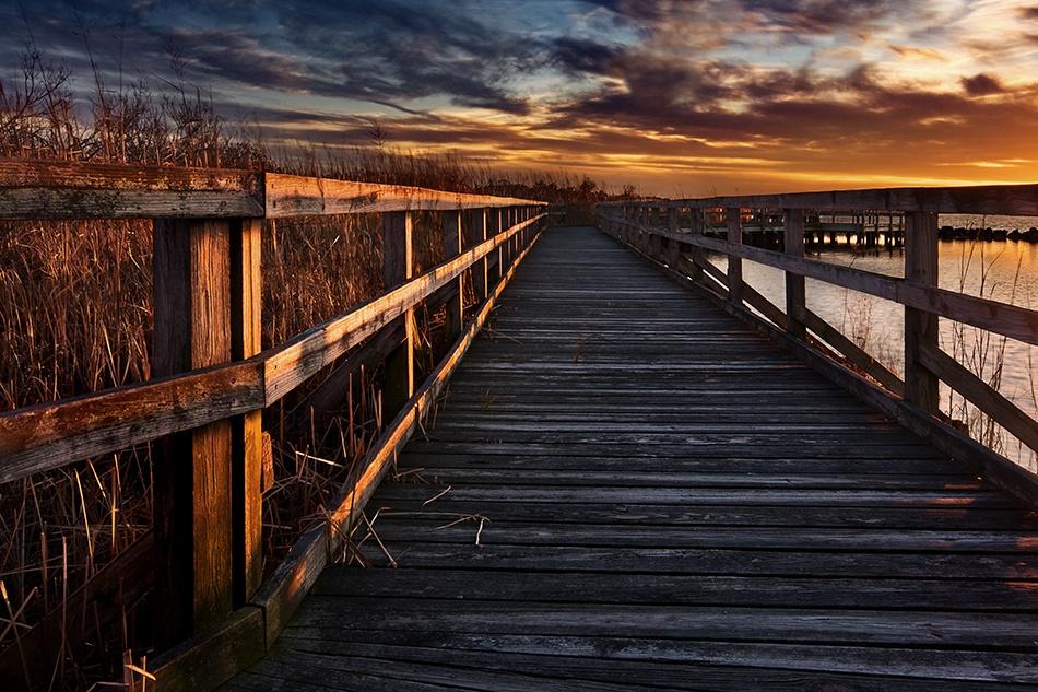 A piece of fine art art photography titled Boardwalk by Doug Roane