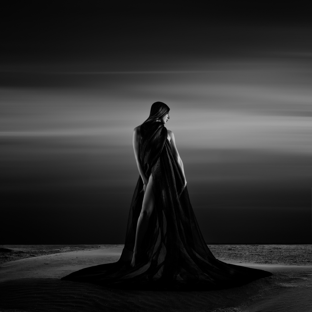 A piece of fine art art photography titled Alone In the Sand by Patrick Odorizzi