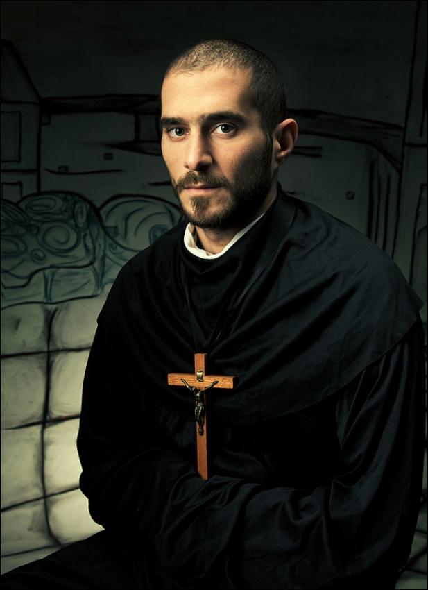 A piece of fine art art photography titled Priest by Janis Jurkovskis