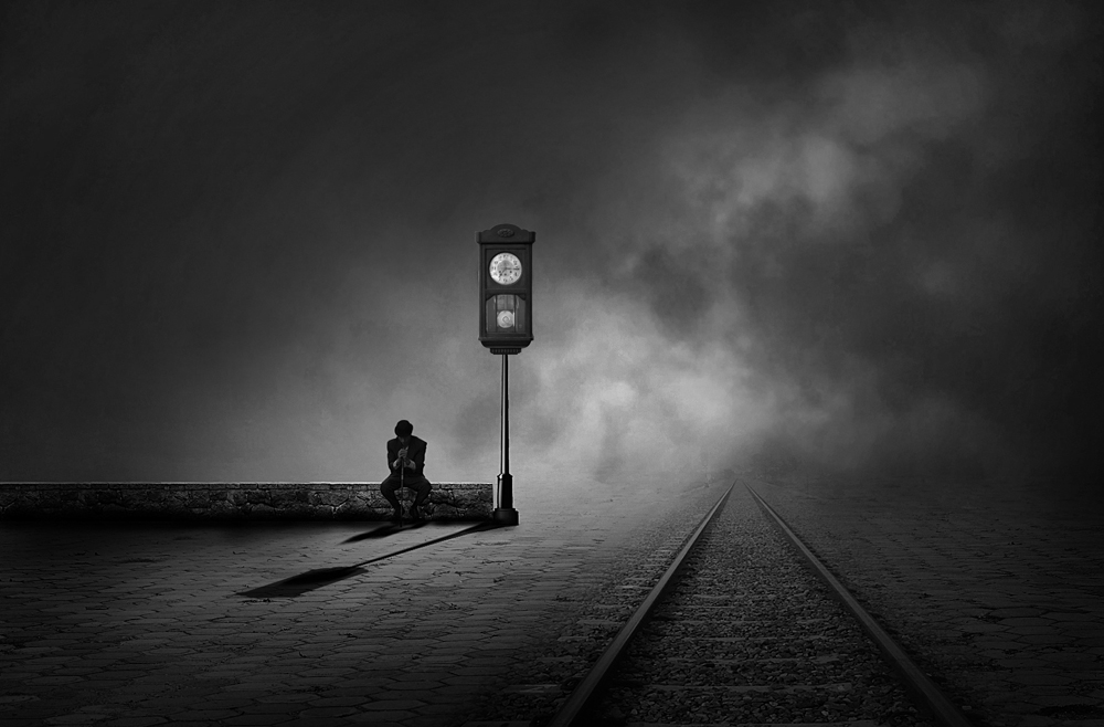 A piece of fine art art photography titled Waiting for an Uncertain by hafizh photos
