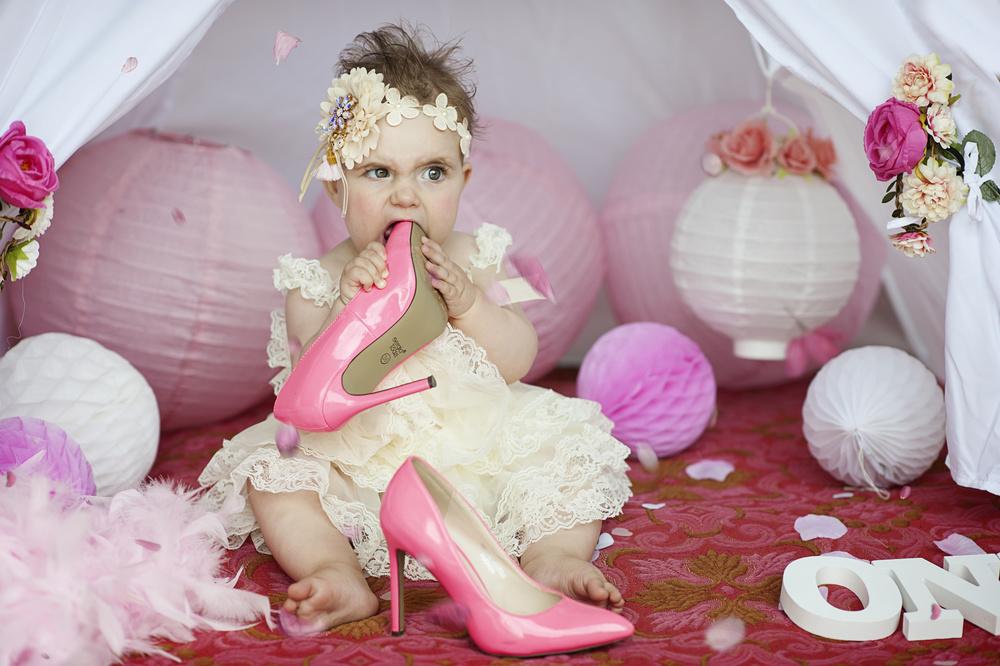A piece of fine art art photography titled Pink Shoe by Monika Vanhercke