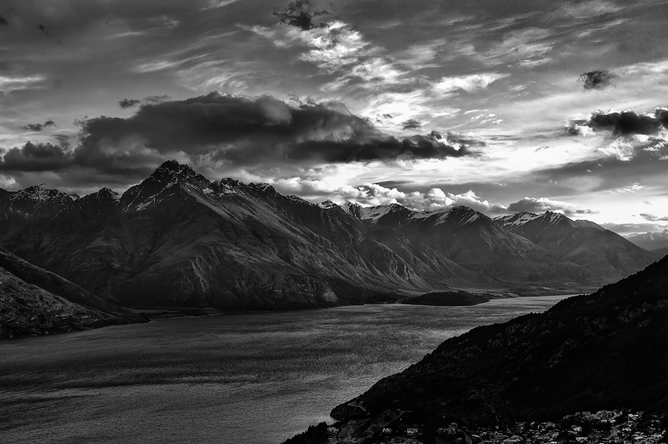 A piece of fine art art photography titled Ben Nevis, Queenstown, NZ by dougi