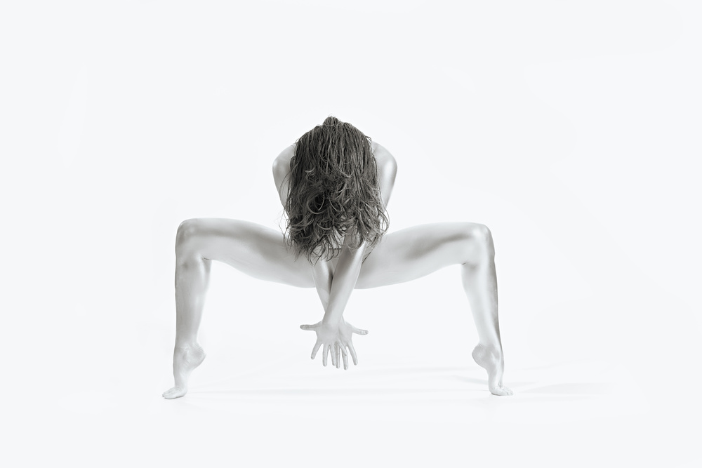 A piece of fine art art photography titled Strong - Gymnastics Series by Howard Ashton-Jones
