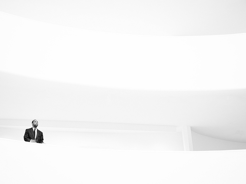 A piece of fine art art photography titled Man In Black by Alessandro Baldini