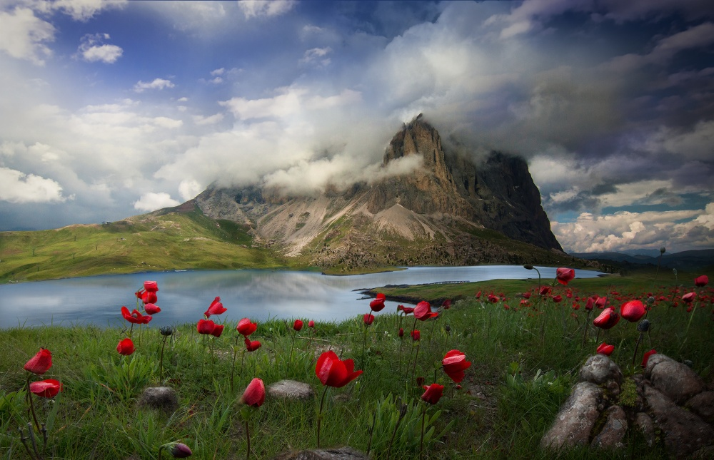 A piece of fine art art photography titled Dolomites Mixture by Noam Mymon