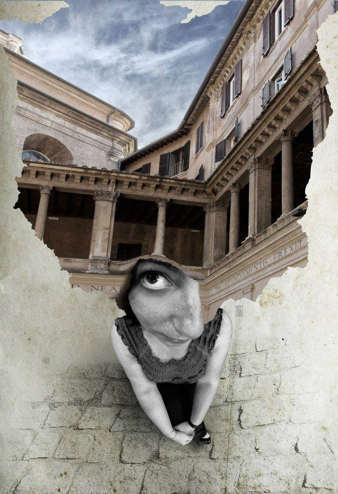 A piece of fine art art photography titled Where Is My Mind 008 Chiostro Del Bramante, Rome by Aidan Sartin Conte