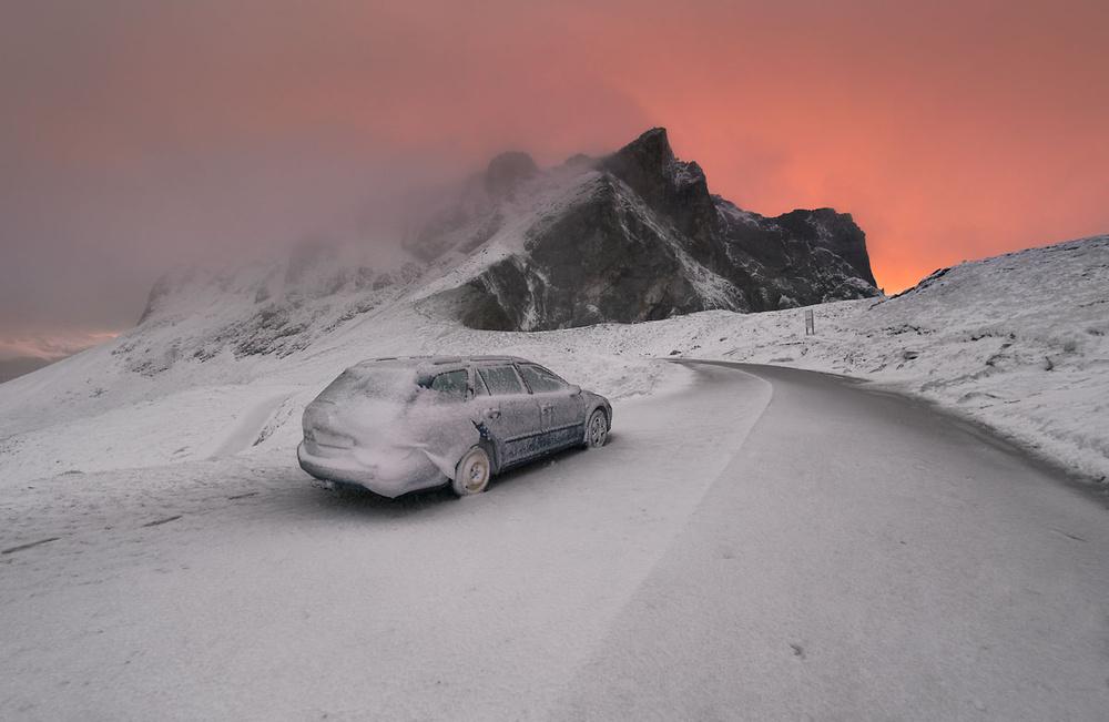 A piece of fine art art photography titled First Snow by Karol Nienartowicz