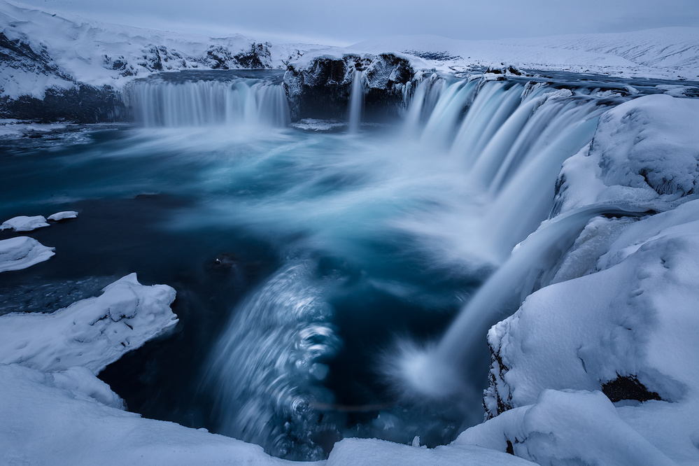 A piece of fine art art photography titled Godafoss by Yimei Sun