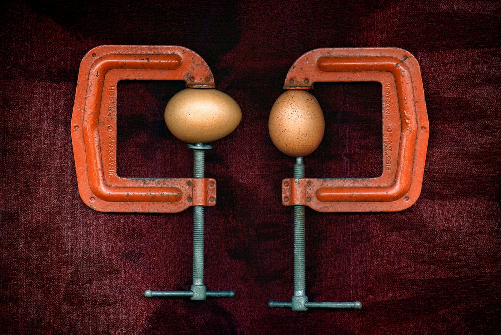 A piece of fine art art photography titled Putting the Squeeze On by Paul Wullum