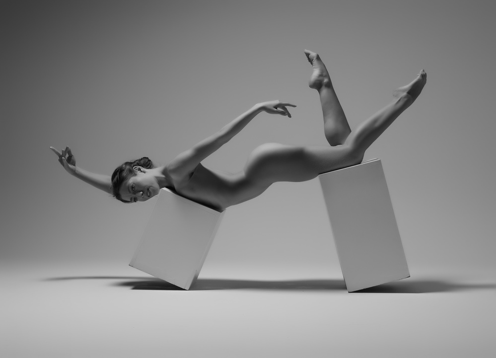 A piece of fine art art photography titled Studio Swimmer by Catchlight Studio