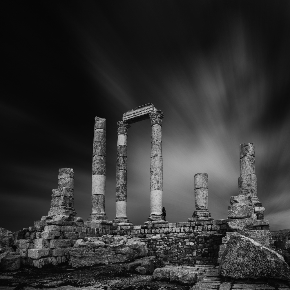A piece of fine art art photography titled Mount of the Citadel - Amman by Ibrahim Nabeel
