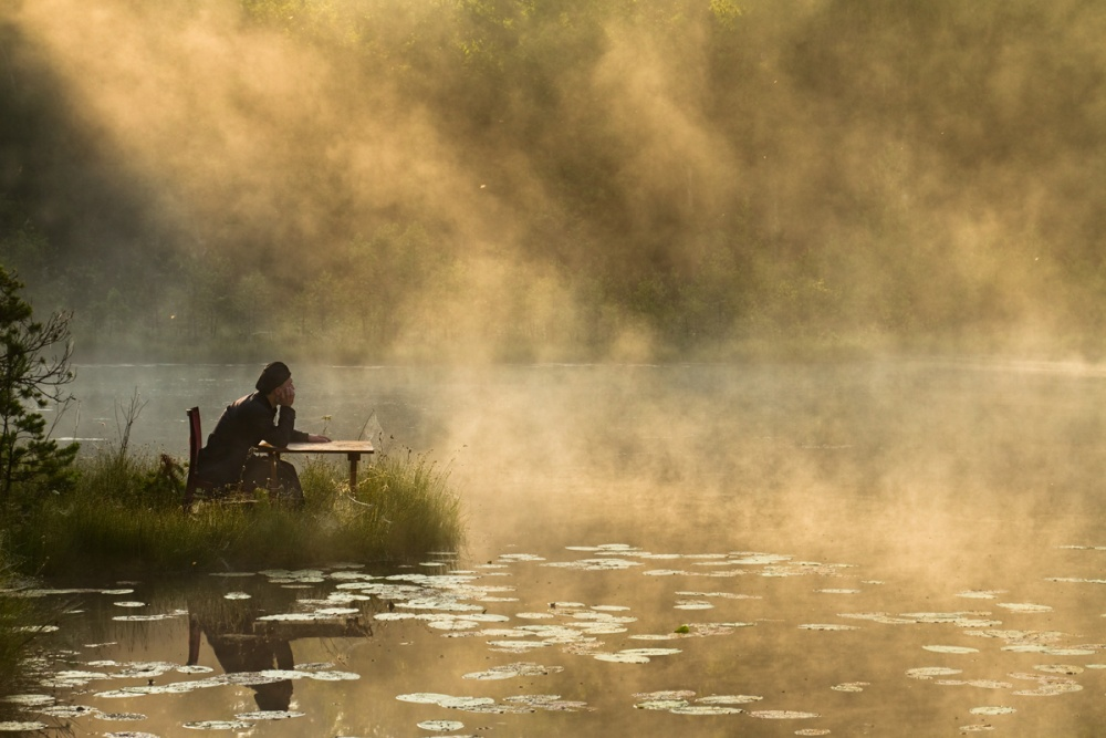 A piece of fine art art photography titled Listening to the Silence by Leszek Paradowski
