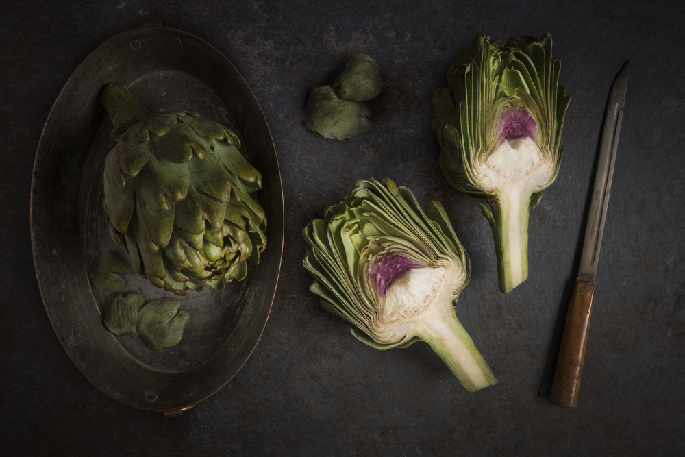 A piece of fine art art photography titled Artichokes by Diana Popescu