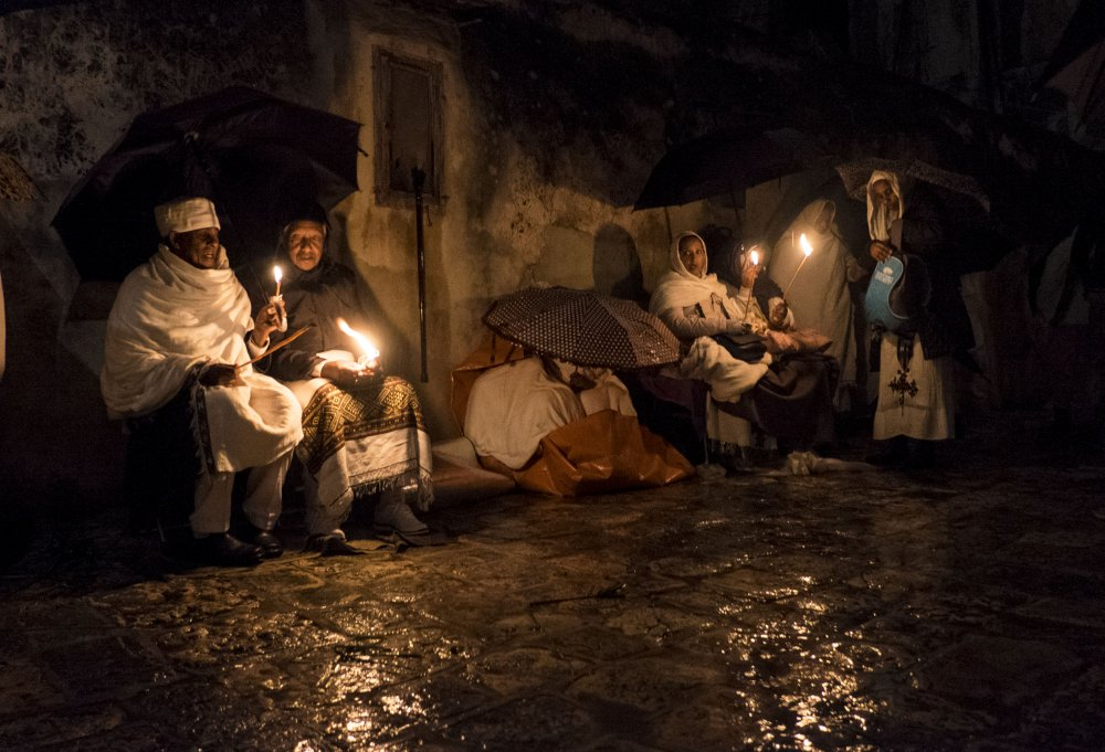 A piece of fine art art photography titled Holy Fire Ceremony by Orna Naor