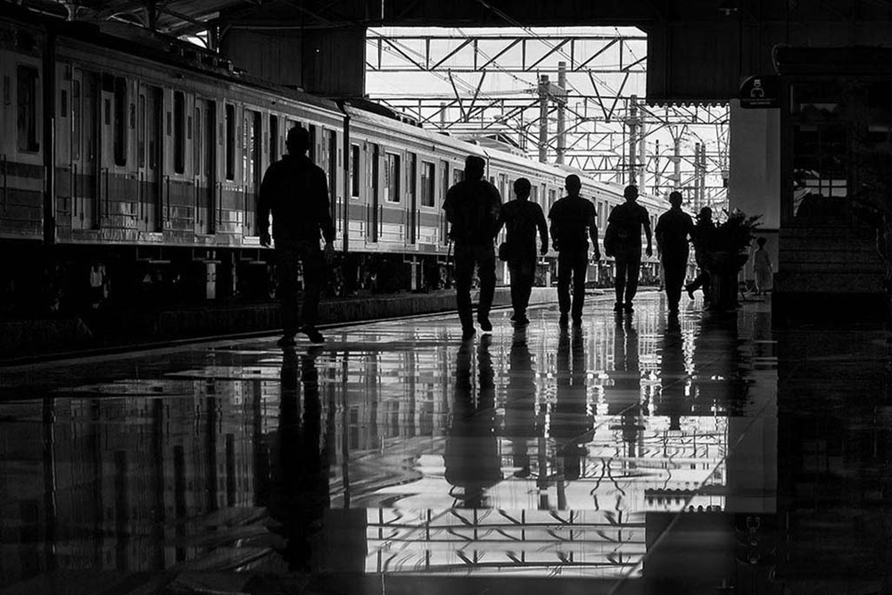 A piece of fine art art photography titled On the Railway Station by Indra Kusuma