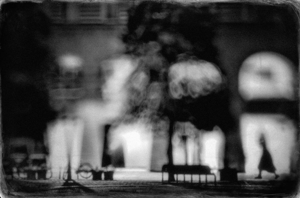 A piece of fine art art photography titled Night Street by Teruhiko Tsuchida