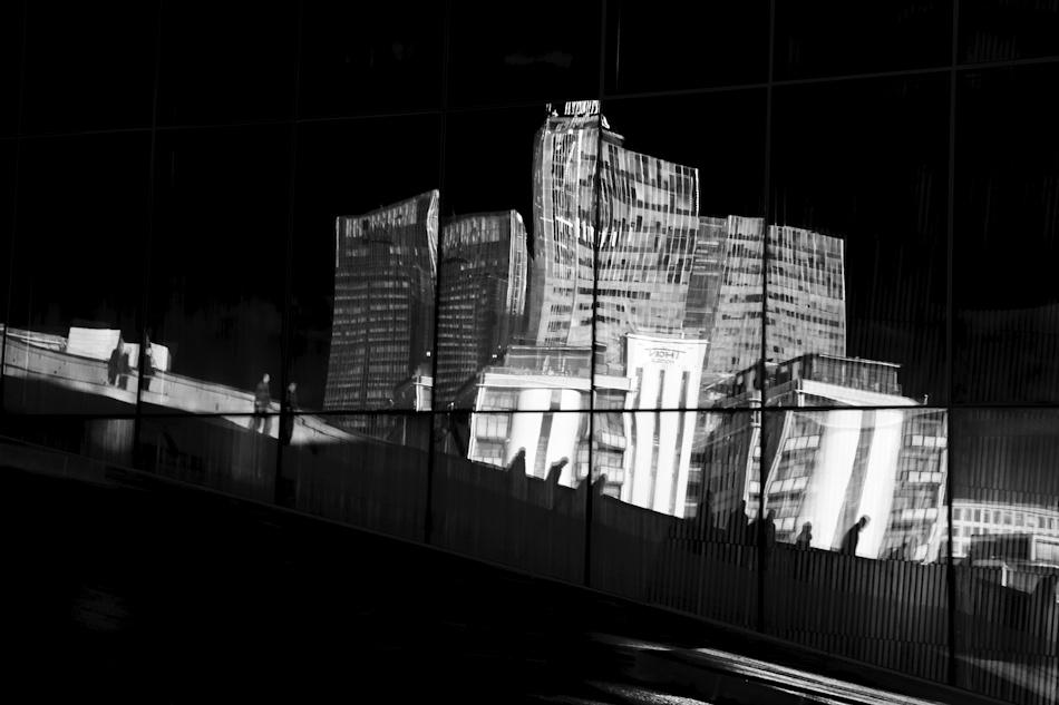 A piece of fine art art photography titled Reflections of a City by Kjetil Jensen