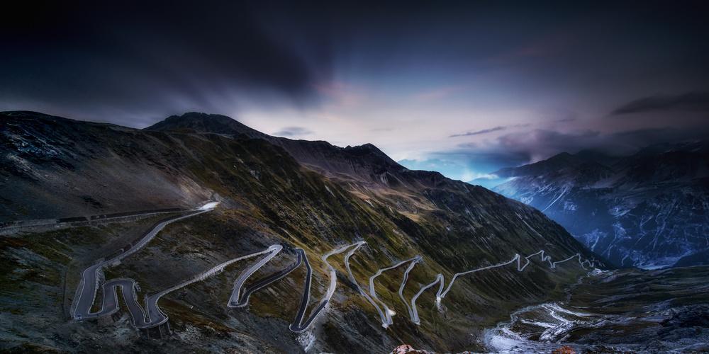 A piece of fine art art photography titled Passo Di Stelvio by Sven Kohnke