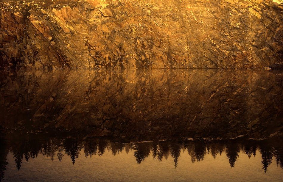 A piece of fine art art photography titled Warm Reflection by Joni Niemelä