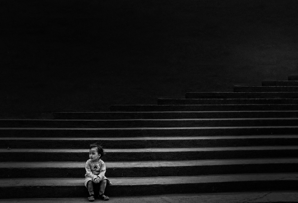 A piece of fine art art photography titled I Am Alone by agus rahiem