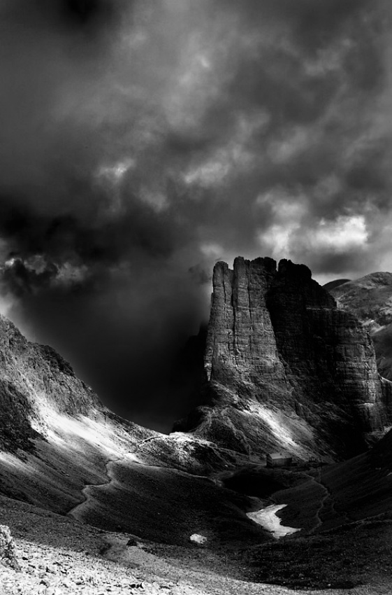 A piece of fine art art photography titled Vajolet Towers by Paolo Ordigoni