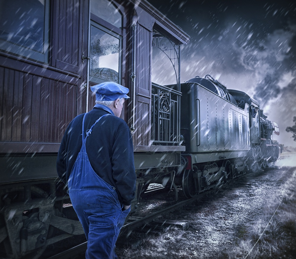 A piece of fine art art photography titled Change of Shift by Adrian Donoghue