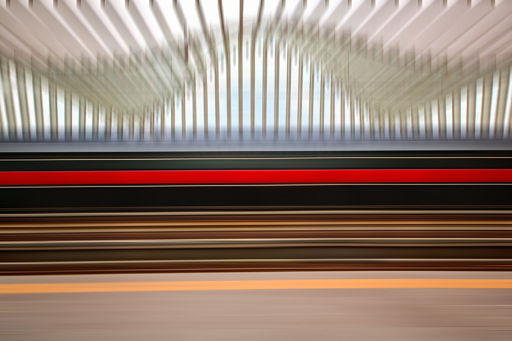 A piece of fine art art photography titled The Red Line by Massimo Della Latta