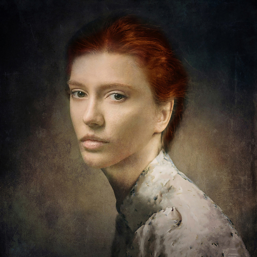 A piece of fine art art photography titled My Girl In Seventeenth Century by Moein Hashemi Nasab
