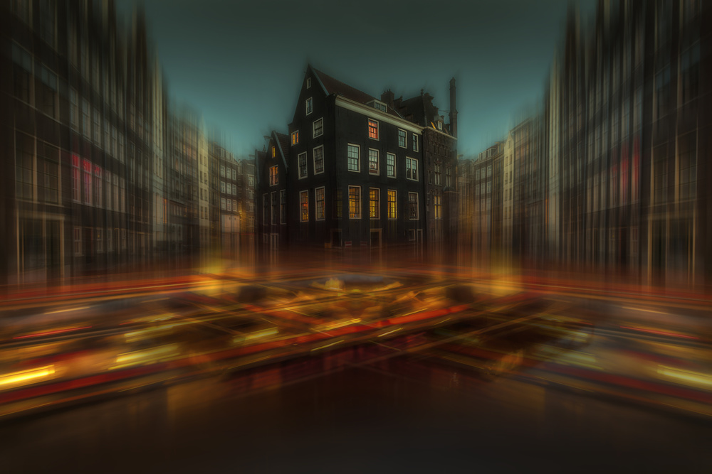 A piece of fine art art photography titled Amsterdam Lights by aRRO