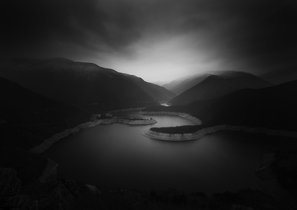 A piece of fine art art photography titled Vacha Dam - Southern Bulgaria by Nikolay Alexiev
