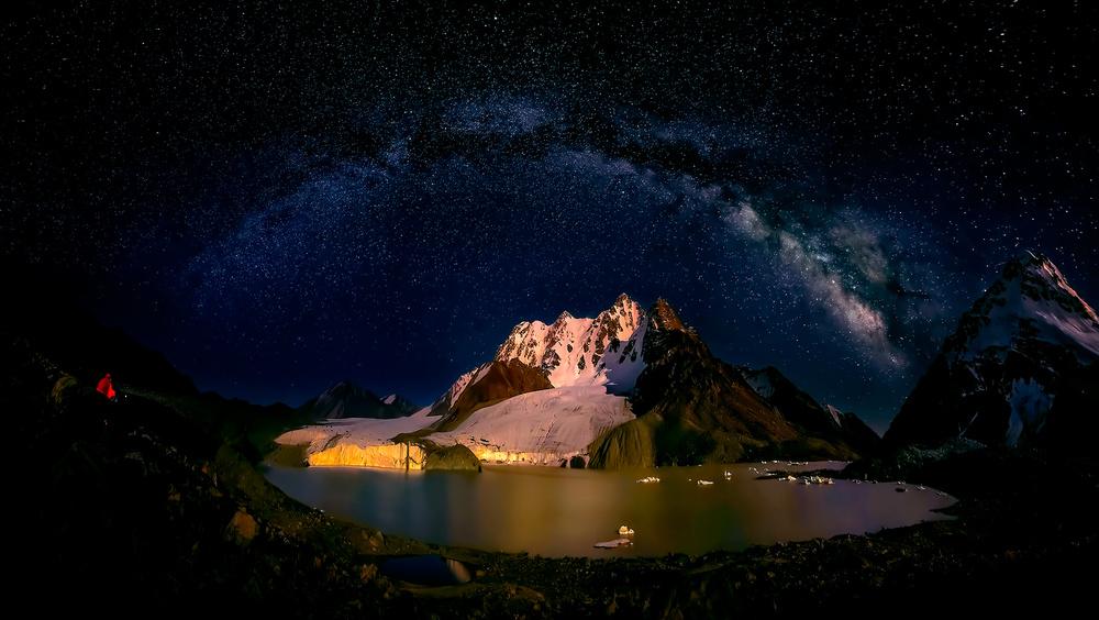 A piece of fine art art photography titled Night View of Bogda Peak by Hua Zhu