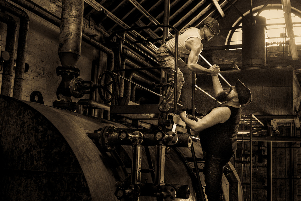 A piece of fine art art photography titled Workers by Axel K. Schoeps