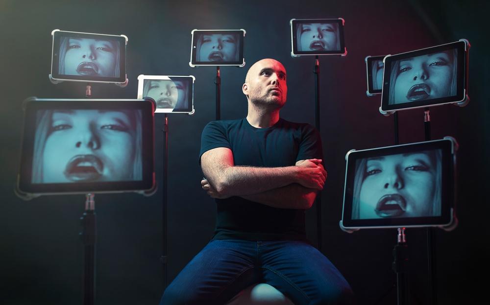 A piece of fine art art photography titled Red Alert by Oren Hayman